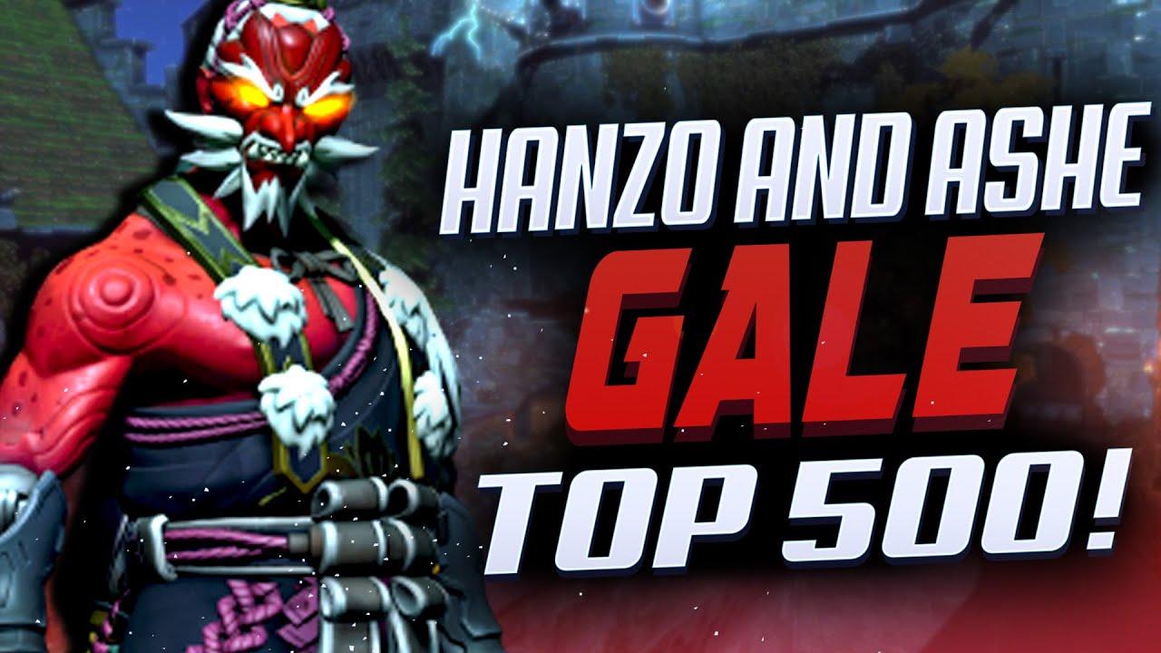 GALE TOP 500 HANZO AND ASHE GAMEPLAY! [ OVERWATCH SEASON 24 ]