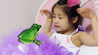개구리가 같이 놀아줘요!! 서은이의 개구리 마법의 점프 보드게임 에어바운스 실내 놀이터 놀이 Seoeun Magic Frog Board Game and Air Bounce