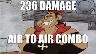 Sol midscreen air to air 236 damage combo | #GGST_SO | Guilty Gear -Strive- Medium (360p)