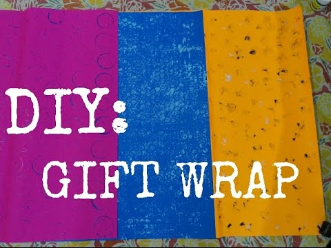 DIY Gift Wrapping Paper or Handmade sheet