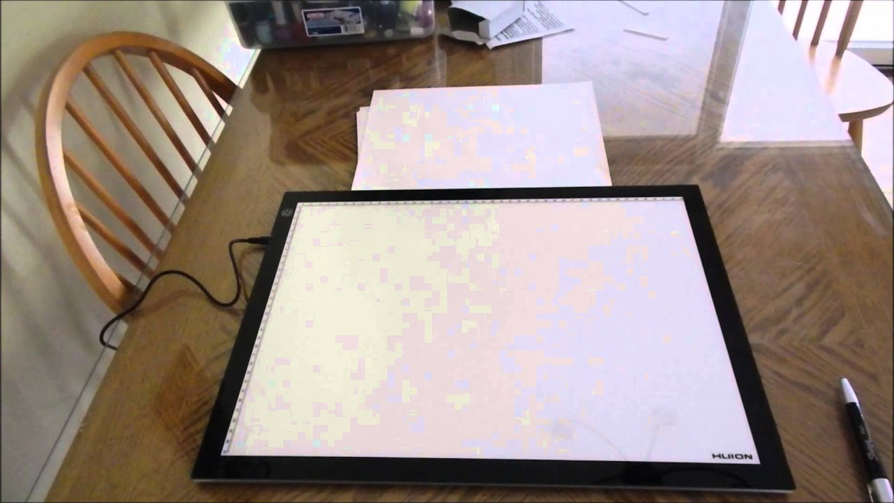 HUION A3 Light Pad Review   YouTube