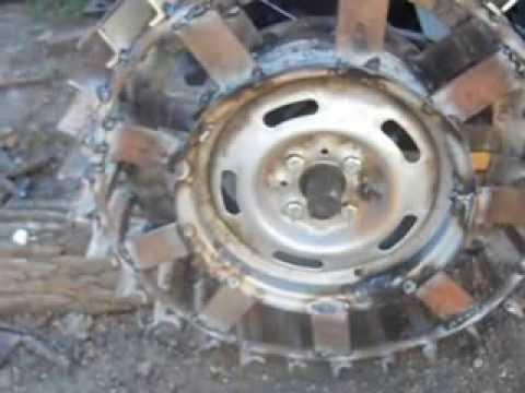 Грунтозацепы для мотоблока из автомобильных дисков своими руками видео 113