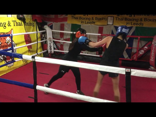 Leeds university ladies boxing sparring training