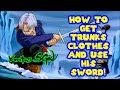 Dragon Ball XenoVerse How To Unlock Trunks Clothes and Use His Sword