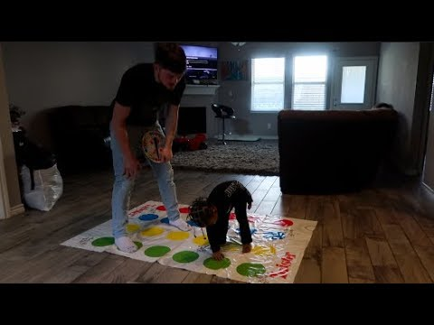 BABY CJ PLAY'S TWISTER!! (HE GET'S EXCITED)