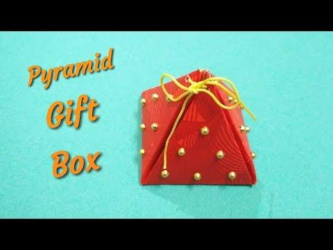 Diy Paper Pyramid Gift Box   Diy Friendship Day Gift Idea 2018   Gift Box Idea   Preeti Chauhan