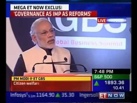 PM Shri Narendra Modi at The Economic Times Global Business Summit 2016