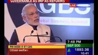 PM Shri Narendra Modi at The Economic Times Global Business Summit 2016