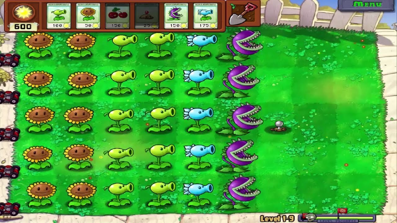 Plants Vs Zombies – Chiến Thuật Đậu Tuyết, Hoa Ăn Thịt, Mìn Khoai Tây Và Tường Hạt Level 1 ( 8- end)