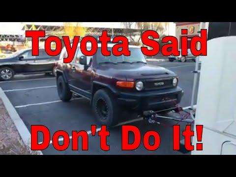 How I flat Tow a Toyota FJ Cruiser behind my RV.