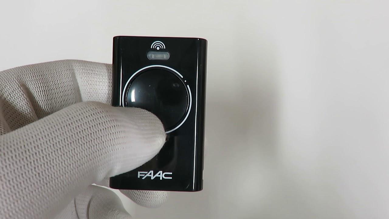 Faac Xt2 868 Slh Lr Master Remote Control Youtube