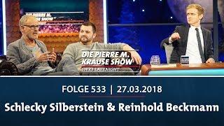 Die Pierre M. Krause Show vom 27.03.2018 mit Schlecky Silberstein & Reinhold Beckmann