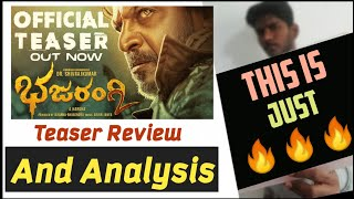 Bhajarangi-2 Teaser Review and Analysis | Karunada Chakravarthi Shivarajkumar | Cinema with Varun |