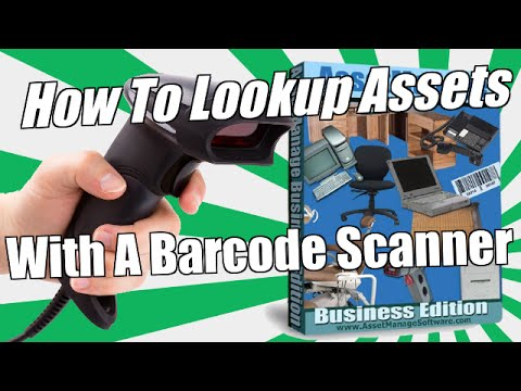 How to Lookup Assets With a Barcode Scanner