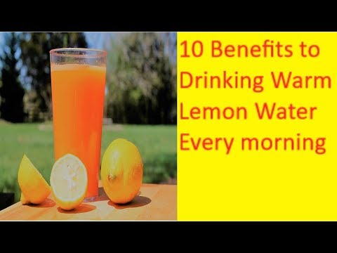 10 Benefits to Drinking Warm Lemon Water Every Morning ||  AMAZING Benefits of Lemon Water