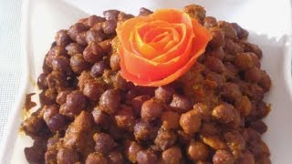 How to Cook Black Chickpeas Vegetable for Fast - Recipe in English by Sonia Goyal