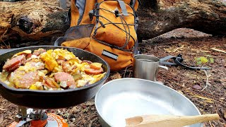 Hike and Cook EP.1 - Primtive Camping Breakfast Idea