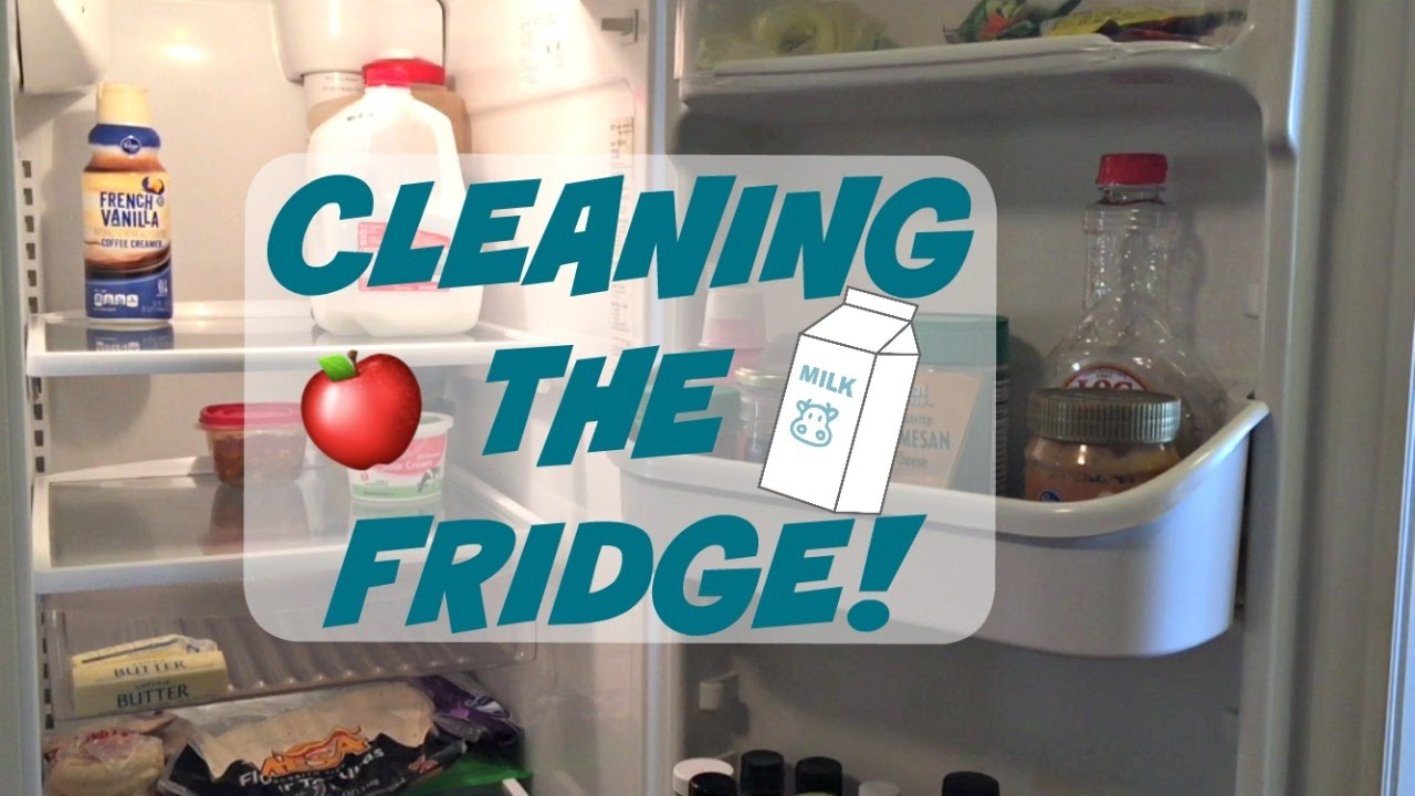 how to clean a fridge cleaning the refrigerator youtube. Black Bedroom Furniture Sets. Home Design Ideas