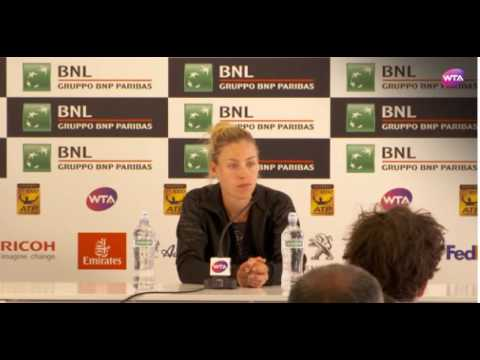 Angelique Kerber Press Conference after 2R Loss Rome 2017