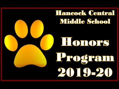 Hancock Central Middle School 2019 - 2020 Honors Program