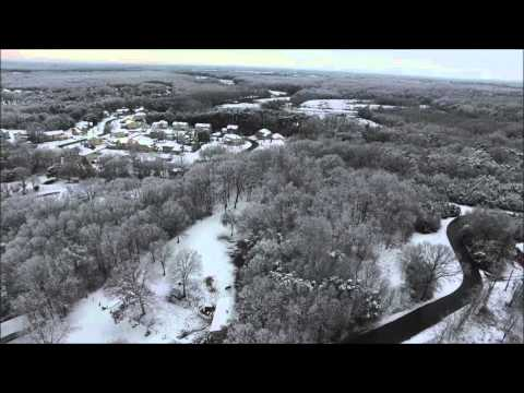 Aerial view of Long Bridge Park, NJ after 2/5/16 Storm