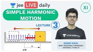 Simple Harmonic Motion - Lecture 3 | SHM | Unacademy JEE | LIVE DAILY | IIT JEE Physics | Namo Sir