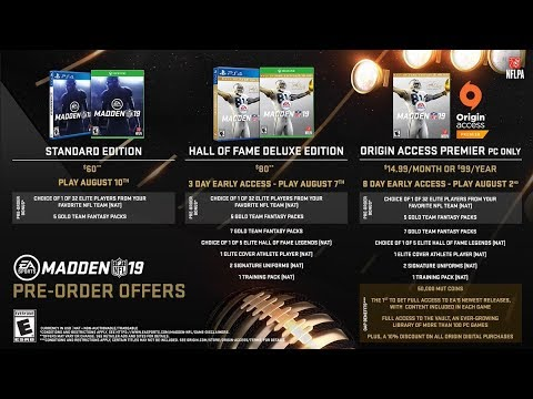 Madden 19 Standard Vs Hall Of Fame Edition Which One Should You Get All Bonuses Comparedeven Pc