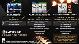 Madden 19 Standard VS Hall Of Fame Edition - Which One Should You Get? All Bonuses Compared(even PC)