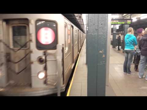 IRT Seventh Avenue Line: Downtown & Uptown R142 & R62 (2) (3) Trains @ Wall Street