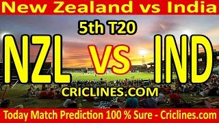 Today Match Prediction-New Zealand vs India-5th T20-Who Will Win