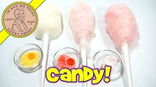 Hammacher Schlemmer Cotton Candy Machine - Flossugar, Butterscotch, Cinnamon & Starlights Hard Candy