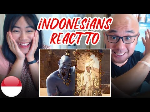 Indonesians React To ALADDIN OFFICIAL TRAILER | Will Smith, Naomi Scott, Mena Massoud