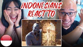 Indonesians React To ALADDIN OFFICIAL TRAILER | Will Smith, Naomi Scott, Mena Massoud