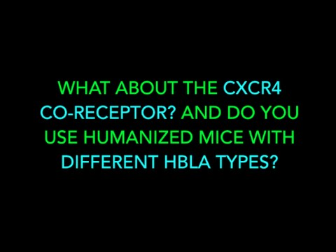 WHAT ABOUT THE CXCR4 CO RECEPTOR? AND DO YOU USE HUMANIZED MICE WITH DIFFERENT HBLA TYPES?