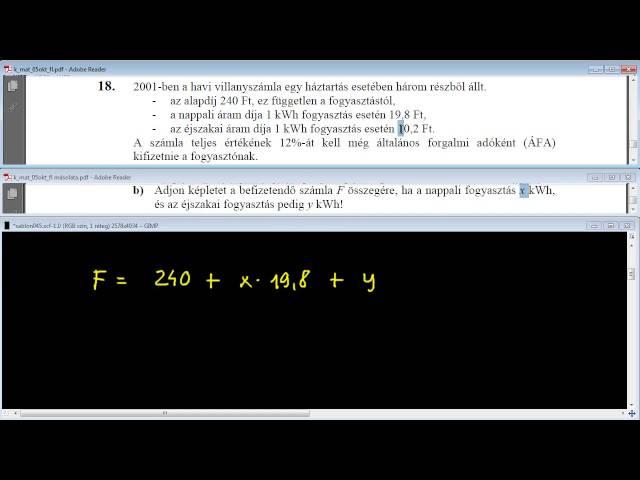 18/b Feladat - Egyenletek