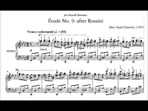 Marc-André Hamelin - Étude No. 9 in F minor 'after Rossini'