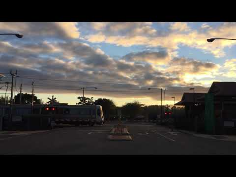 Railway Crossing Double Transperth Train Gosnells, Western Australia
