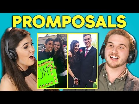 Thumbnail: TEENS REACT TO PROMPOSALS 2017