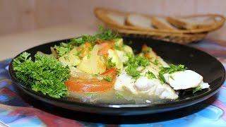 Филе минтая с овощами в духовке запеченное