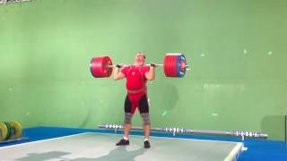 "Alexey Lovchev Clean and jerk 270 kg Filming ""The heavyweight"""