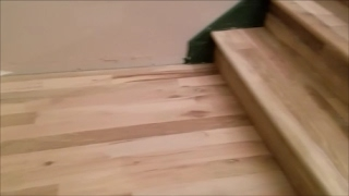 Hardwood stairs done cheap DIY home improvement Part 2