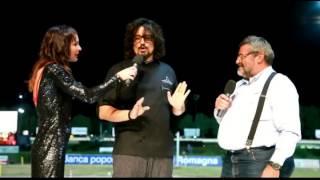 Lo chef Alessandro Borghese all'apertura dell'ippodromo di Cesena