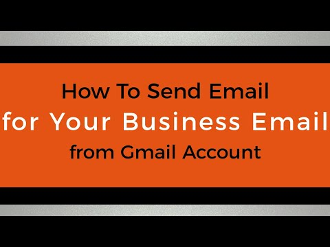How To Send Email For Your Business Email From Gmail Account Through Gmail SMTP Server