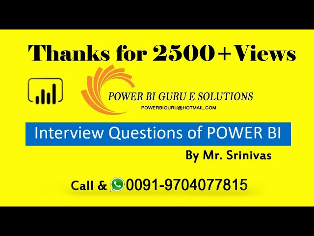 Power Bi interview questions | Power BI training|PowerBI Guru|Power BI Training in Indai,Dubai,US,UK