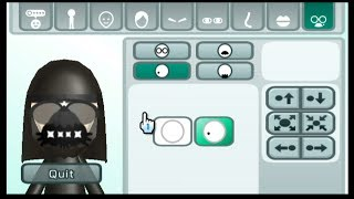 Mii Maker How to make Darth Vader Mii (Star Wars) Free Tutorial - Nintendo Switch/Wii/3DS/WiiU