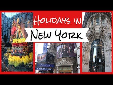 Christmas In NYC   Holiday Windows   Saks Fifth Avenue   Bergdorf Goodman   NYC VLOG 2017