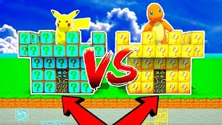 CASTILLO PIKACHU VS CASTILLO CHARMANDER 😱 BATALLA DE LUCKY BLOCKS EN CASTILLOS POKÉMON MINECRAFT