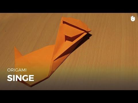 Faire un singe en papier   Origami