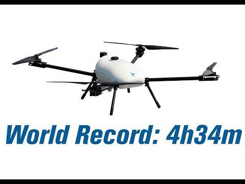World Record Endurance Multirotor Flight - 4 hours 34 minutes - Skyfront Tailwind   Hybrid Drone