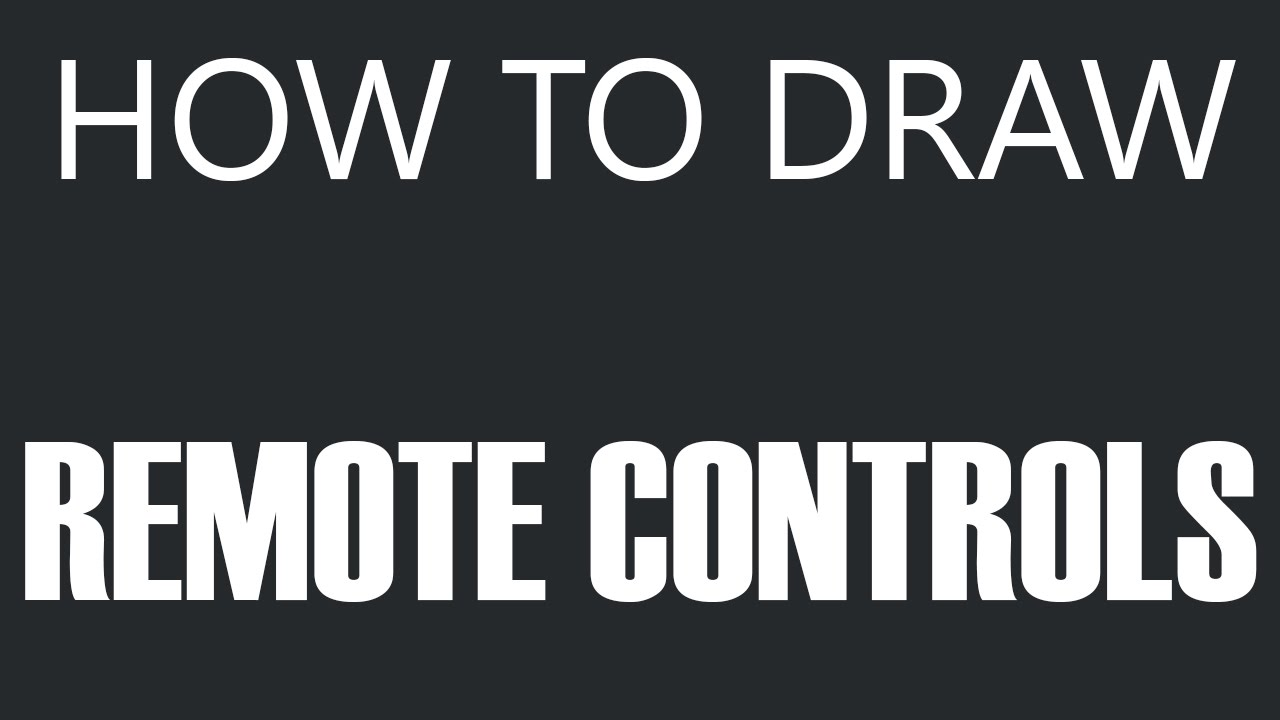 remote control drawing. how to draw a remote control - controller drawing (tv remotes) youtube